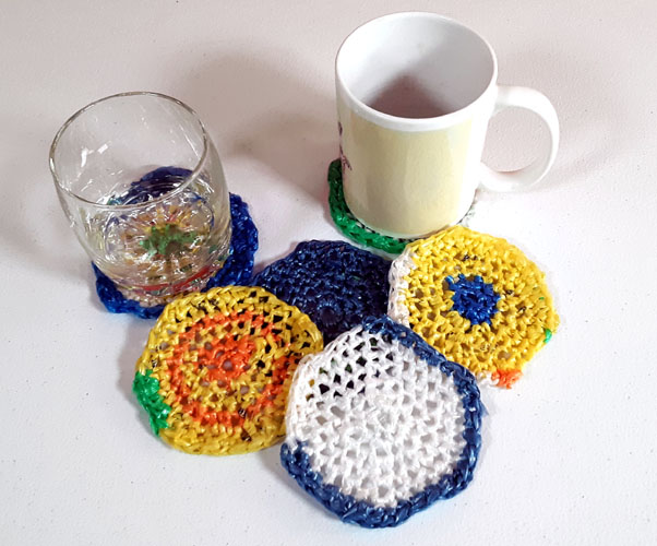 recycled coasters